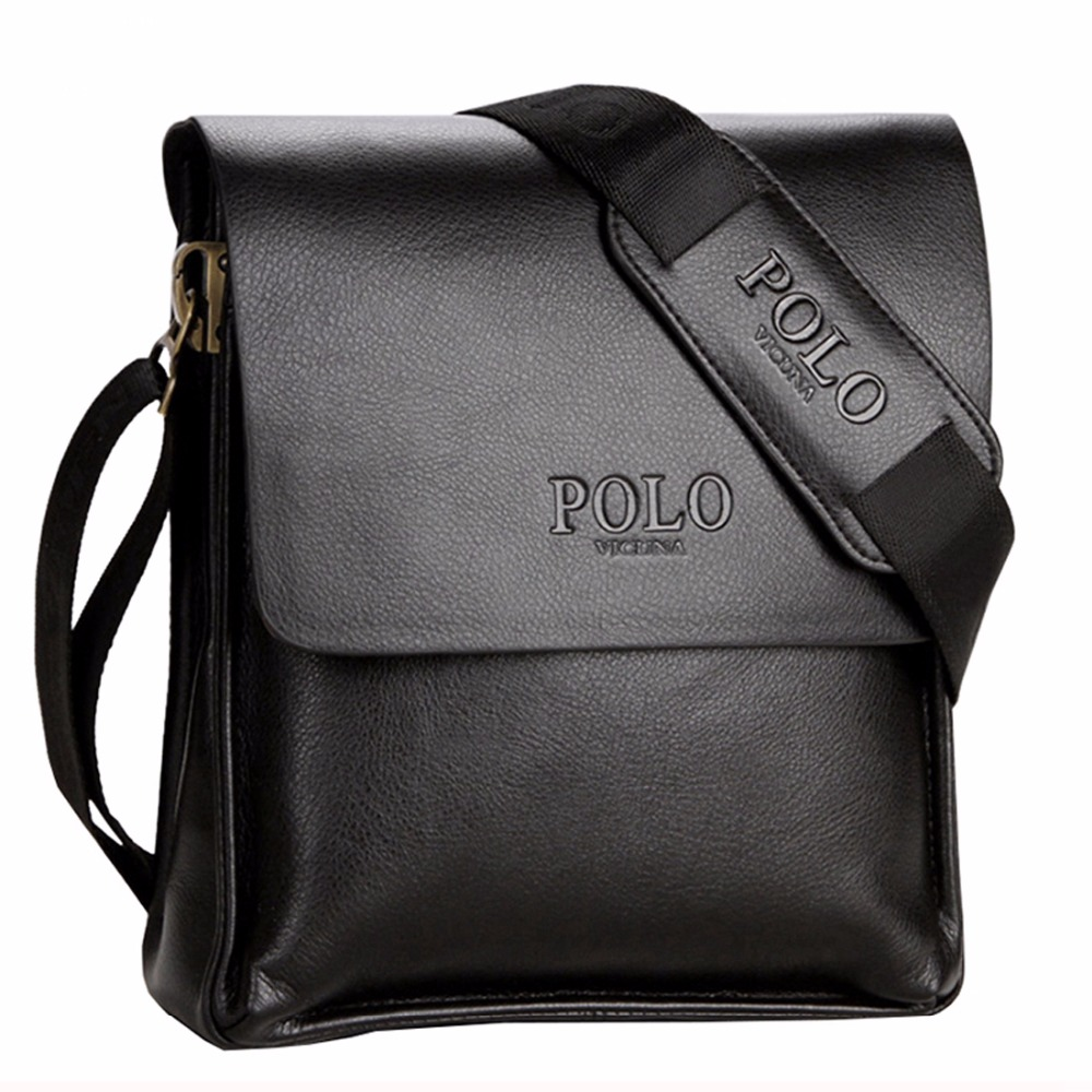 65b692d5609 VICUNA POLO Famous Brand Leather Men Bag Casual Business Leather ...