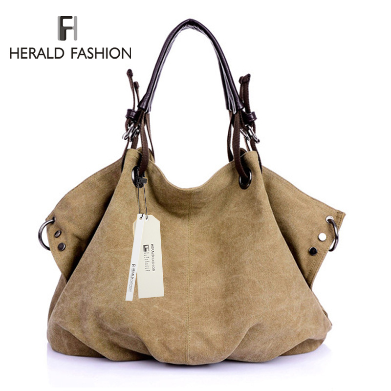 8ead96a4b4c99 High Quality Canvas Women Handbag Casual Large Capacity Hobos Bag ...