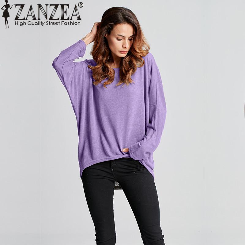 1f35cf79dd64d ZANZEA Blusas 9 Color Women Blouses 2017 Spring Autumn O-neck Long ...